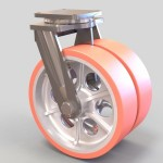 Dual Wheel Poly Caster