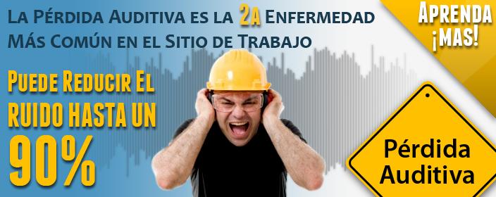 Perdida auditiva, reducir ruido hasta un 90%