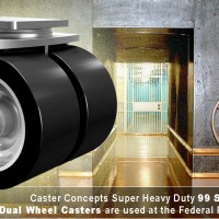 Caster Concepts Super Heavy Duty 99 Series Dual Wheel Casters are used at the Federal Reserve Bank