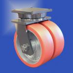¿Qué ventajas ofrecen las rodajas de rueda doble contra las rodajas de rueda única para cargas pesadas?
