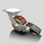 Caster Concepts Twergo 37 Series with brake | Caster Concepts