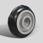 Caster Concepts full radius 6x2 poly wheel