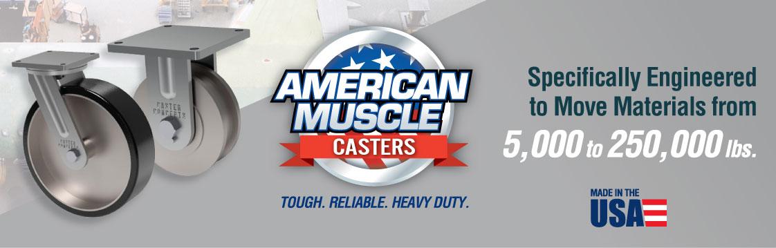 Rodajas Industriales de Uso Pesado de Caster Concepts… Poder Americano Puro