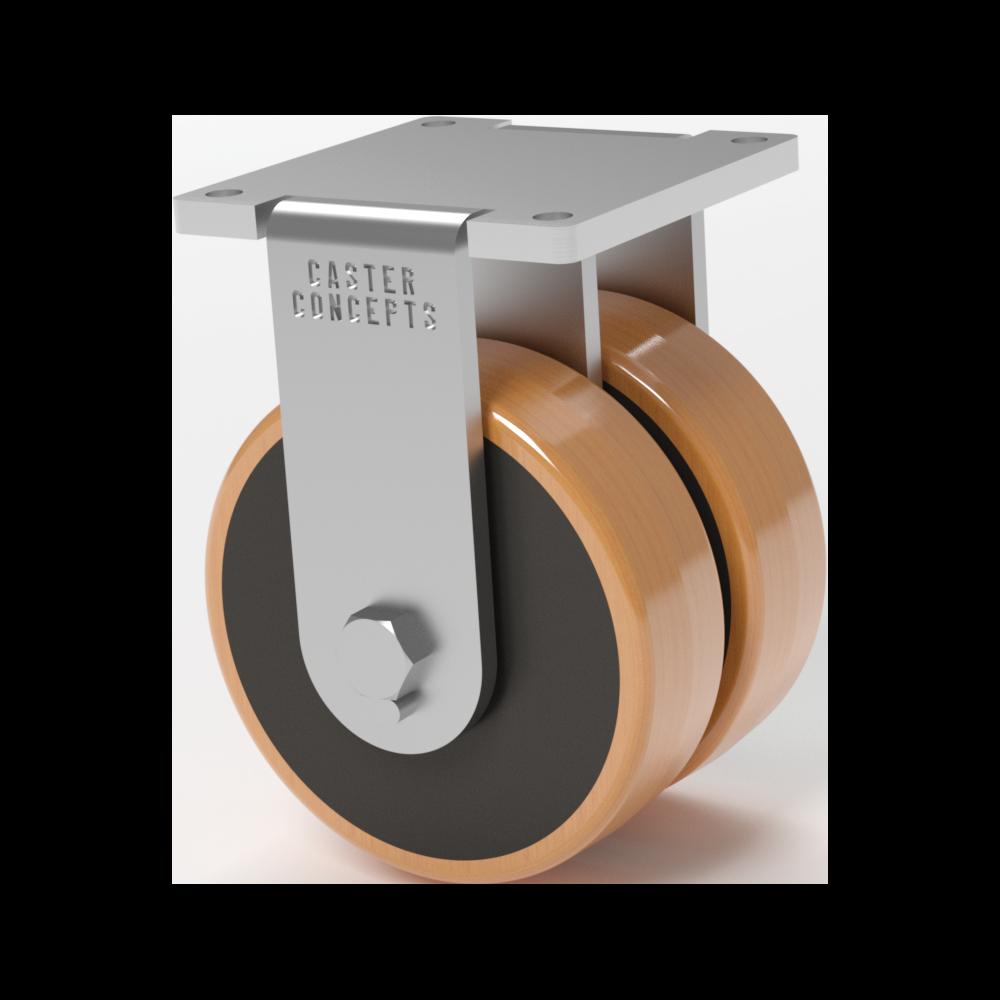 Doble Rueda – 12×3.5 Fenólica Laminada – 3855 Kg. Cap – Fija