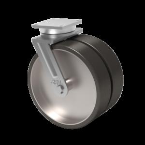 Serie 2-91 – Capacidad 10000 kg – Placa Superior 8.5 x 8.5 – Kingpinless Doble Rueda