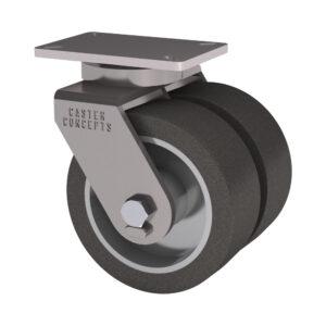 2-71 Series - 4500 Lbs Capacity - 5 x 7.25 Top Plate - Doble Rueda Kingpinless
