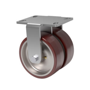 66 Series - 2,000 Lbs Capacity - 4.5 x 6.25 Top Plate - Doble Rueda Kingpin