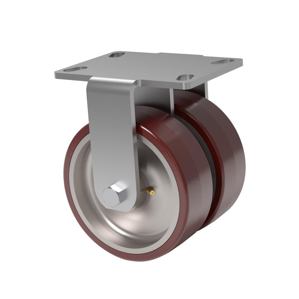 Serie 66 – Capacidad 1000 kg – Placa Superior 4.5 x 6.25 – Kingpin Doble Rueda