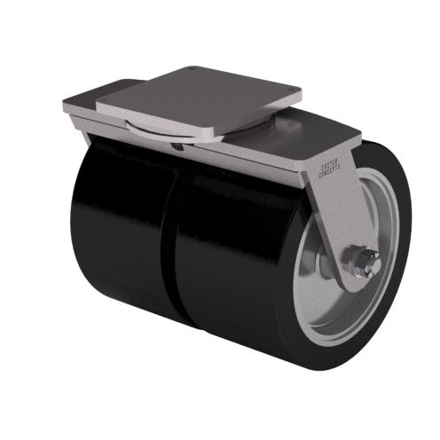Serie 99 – Capacidad 17500 kg – Placa Superior -14 x 14 – Kingpinless Doble Rueda