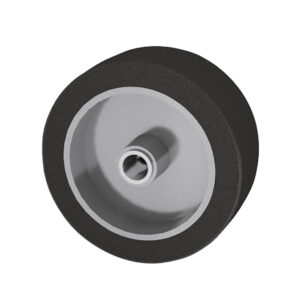 mold-on-rubber-wheels