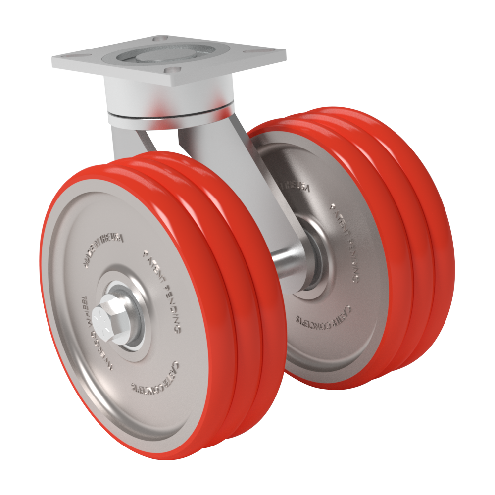 Ergonómica – TWERGO®  MAXX – 12×3 Poliuretano T/R 85A – 1590 Kg. Cap – Giratoria