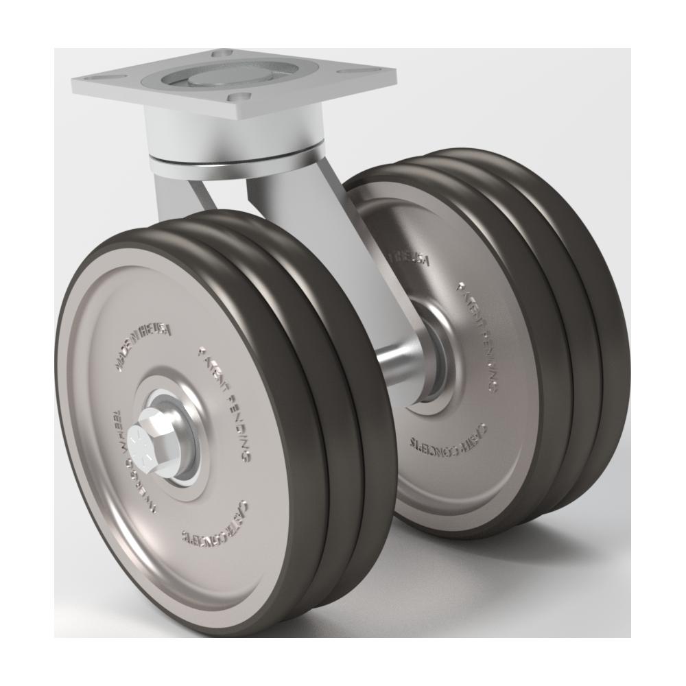 Ergonómica – TWERGO®  MAXX – 12×3 Poliuretano T/R 95 – 1590 Kg. Cap – Giratoria